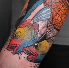 Schwein Elschwino fish tattoo