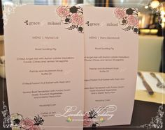 Personalized menu with each guest's name