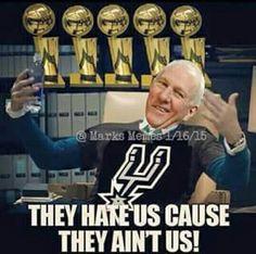 Go Spurs Go. Spurs Coach Gregg Popovich 5-Time NBA CHAMPION