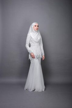 Unleash your sweet and feminine side with our special collection, Ilona.Simple look Ilona can be wear for engagement or akad nikah. The concept idea o. Muslim Wedding Gown, Kebaya Wedding, Muslimah Wedding Dress, Hijab Style Dress, Simple Wedding Gowns, Muslim Wedding Dresses, Hijab Bride, Muslim Dress, Bridal Dresses