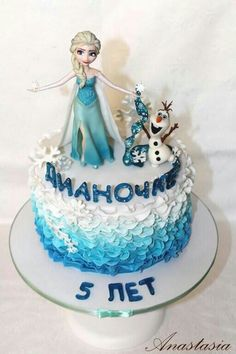 Frozen cake Торт Холодное сердце Эльза