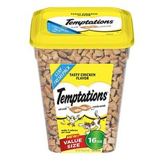 TEMPTATIONS Classic Treats for Cats Tasty Chicken Flavor 16 Ounces Pack of 4 ** Click image to review more details.