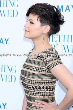 If there ever was a great example of just how versatile pixie length hair can be, Ginnifer Goodwin leads the pack in excellence. Ginnifer Goodwin is proof. Edgy Pixie Hairstyles, Edgy Haircuts, Haircuts With Bangs, Undercut Pixie, Pixie Haircuts, Shaved Hairstyles, Undercut Hairstyles, Ginnifer Goodwin, Shaved Pixie Cut