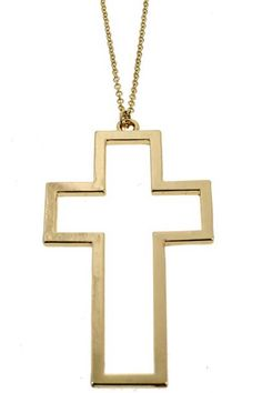 #Romwe Cross Charm Pendant Necklace