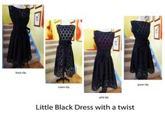 I just thought I'd show you what you can do with your Little Black dress.  1 dress many outfits!  Oh so versatile!
