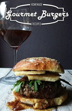 Wine burger: spicy brunello wine jam, 36 months aged parmesan cheese & fresh arugula leaves. The very gourmet Italian burger.
