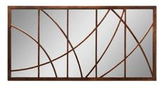 Extra Large 60 GEOMETRIC OVERLAY Bronze Wall Mirror Oversize Metal >>> You can find more details by visiting the image link.
