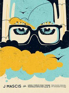 Reverent Horton Heat gig poster by Doe Eyed
