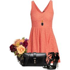 peach and black by lisamoran on Polyvore featuring polyvore fashion style Morgan Jayson Home