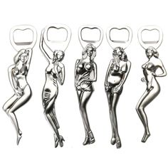 5 styles Creative Stainless Steel Art Bottle Opener Gadget Tool Key Chain Model Number: Sexy Girl Bottle Opener Metal Type: Stainless Steel Feature: Stocked,Eco-Friendly Openers Type: Bottle Openers Type: Openers Size(cm): About : 15cm(height) *3.5cm(length)*1cm(width) Surface Treatment: Silver electroplated  Description:  Creative Stainless Steel Art Sexy Girl Beer Bottle Opener Decapper Gadget Tool Device Craftworks for Cap Lift and Key Chain Decor.  Materials:Stainless Steel.  Colour…