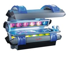 This High Pressure tanning bed has 3 Ultra Performance 640- Watt high-pressure adjustable facial tanners, 30 high-pressure units, and Pure open air tanning comfort. The Multi relax acrylic will make you want to come again. Tanning three layers deep, you will leave satisfied.      12 minute Max     Face tan 3 640 watt Ultra Performance Facial Tanners     Body tan 27 ultra power 580 watt high pressure body units #relaxenjoyrenew