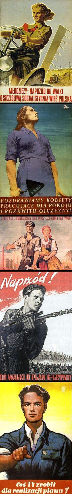 plakat_propagandowy_prl_3_design_po_polsku_zsah Retro, Movies, Movie Posters, Design, Art, Historia, Art Background, Films, Film Poster
