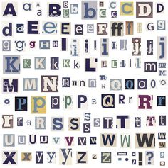 Alphabet letters made of newspaper, magazine — Stock Image