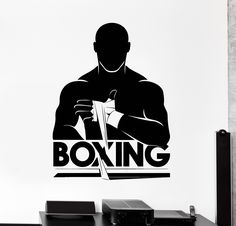 Vinyl Wall Decal Boxing Boxer Fight Club Fighter Stickers (ig4238) Wall Stickers Yoga, Wall Stickers Murals, Vinyl Wall Decals, Kick Boxing, Boxing Gym Design, Boxe Fight, Boxing Posters, Gym Logo, Fight Club