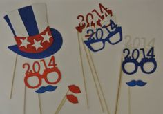 Photo Booth Party Props  4 of July  USA team theme  11 by PICWRAP, $25.00