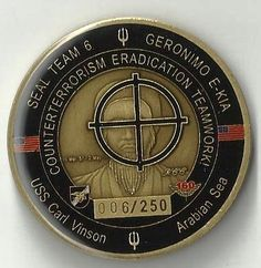 Limited Seal Team 6 Serial Number 006 250 Neptune Spear Navy Challenge Coin | eBay