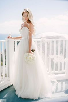 Flowing Draped Wedding Dress   Vitaly M Photography   Get the Look - Find the Perfect Bridal Style