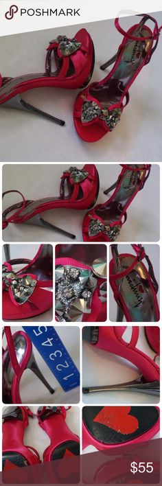 PREOWNED LUICHINY HIGH HEEL SIZE 5 -PREOWNED IN GOOD CONDITION -COLOR: FUSHA -SIZE: 5 -PLEASE LOOK AT PIC FOR MORE DETAILS -WORN MAYBE TWICE ON CONCRETE     ⭐RATED SELLER  FAST SHIPPER NEXT DAY SHIPPING  ❌NO TRADE ❌NO PAYPAL ✅BUNDLE OFFER Luichiny Shoes Heels
