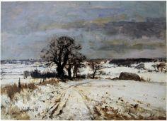 Edward Seago Pastel Landscape, Winter Landscape, Landscape Art, Landscape Paintings, Watercolor Pictures, Watercolor Artists, Watercolor Paintings, Great Paintings, Old Paintings