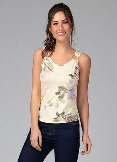 50 sugestões de modelos de blusas sem mangas - Blog da Mari Calegari Blouse Designs, Plus Size, Tank Tops, Womens Fashion, Casual, Clothes, Dresses, Style, Fresh Outfits
