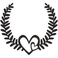 Silhouette Design Store - View Design #250465: love laurel