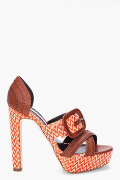 i can't rock heels, but if you can, these are so hot! ++ orange merle heels ++ rupert sanderson