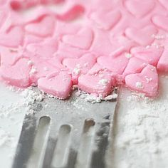 homemade valentine mints. I haven't had cream cheese mints in so long...must make these!