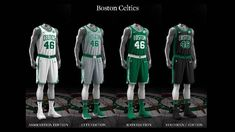 Boston Celtics uniform set, 2017-18