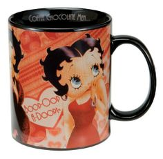 Vandor 10162 Betty Boop Ceramic Mug, Coffee, Chocolate, Men, Multicolored, 18-Ounce by Vandor. $14.11. Dishwasher Safe. Features Betty Boop. Material: ceramic. Microwave Safe. 18-ounce Mug. Betty Boop Coffee, Chocolate, Men 18-ounce Mug
