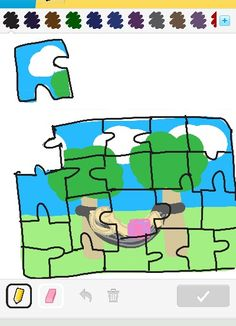 Who doesnt love a good jig saw puzzle?  Drsw something game