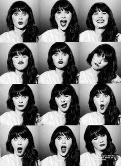 Black & White | Zooey Deschanel