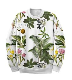 Tropical Sweatshirt Yeah Bunny Summer by YeahBunny on Etsy