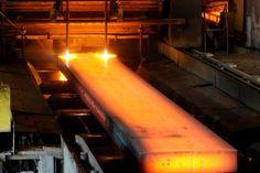 steel slab casting - steel industry photo gallery - iron and steelmaking