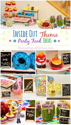 Inside Out Theme Party Food Ideas #InsideOutEmotions AD | Mama Harris' Kitchen