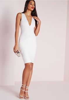 90eb4e8565 Go all white errythang this season in this totally on point white midi dress.  Cause