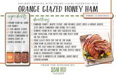 Orange Glazed Honey Ham Using Young Living Essential Oils