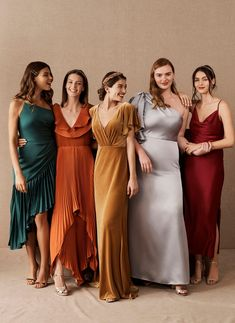 Bridesmaid palette - Mix and Match Bridesmaid Dresses – Bridesmaid palette Jewel Tone Bridesmaid, Mix Match Bridesmaids, Velvet Bridesmaid Dresses, Mismatched Bridesmaid Dresses, Bridesmaid Dress Colors, Wedding Bridesmaids, Wedding Dresses, Autumn Bridesmaid Dresses, Different Colour Bridesmaid Dresses
