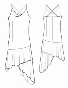 Cowl-Neck Dress with Asymmetrical Handkerchief Hem (I would simply flare the skirt out from the hip, rather than attach it separately.Discover thousands of images about Lekala Sewing Patterns - WOMEN Dresses Sewing Patterns Made to Measure and Royalt Dress Sewing Patterns, Sewing Patterns Free, Clothing Patterns, Drape Dress Pattern, Free Pattern, Sewing Clothes, Diy Clothes, Nice Dresses, Handkerchief Dress