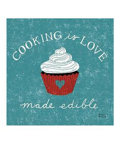 'Cooking Is Love' Canvas Wall Art #zulily #zulilyfinds