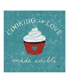 'Cooking Is Love' Canvas Wall Art #zulily #zulilyfinds
