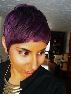 Purple Hair   Elumen violet/blue mix   Goldwell   So Chiq Studio http://sochiqstudio.com/ instagram: sochiqstudio