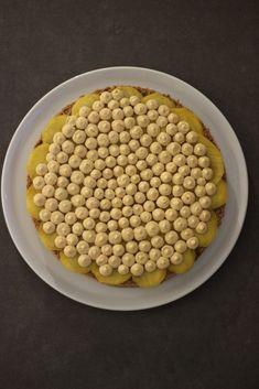 Schokoladenbiskuit-Torte mit Mango, Kaffeelikör und Dulce de Leche