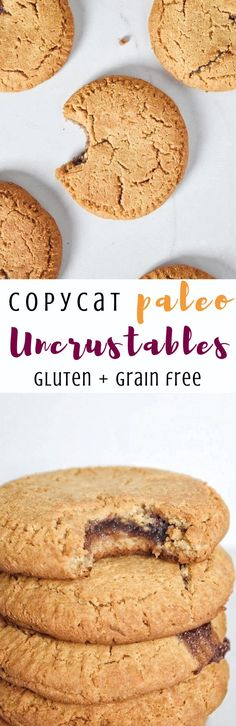 Homemade Paleo Uncrustables (Grain Free, Dairy Free) Your favorite kid-friendly snack remade into a healthier, gluten free + paleo version! | Personally Paleo