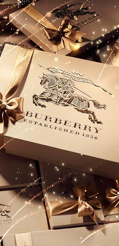 Celebrate Lunar New Year with Burberry gifts hand-wrapped in gold ribbon