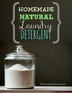 BABY SAFE, natural Just two ingredients - a detergent recipe that WORKS!! (Borax-free) Use washing soda (buy or make your own) and finely grated bar soap (coconut oil kind works best), optional: lemon essential oil