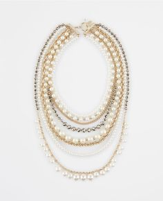 Ann Taylor Pearlized Crystal Statement Necklace -Perfect to dress up a work outfit for petite professional women's fashion! Pin now to save for style ideas later!