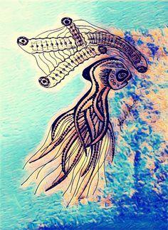 """OctopusMedusa"" #painnt #painting #drawings #artdaily #abstractlines #lines #surrealismo #popsurrealism #artist #abstractart #art #artwork #yoandoyoando  @yoando.ando"