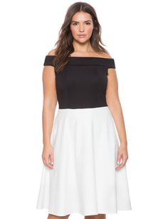 Off The Shoulder Sweetheart Dress from eloquii.com