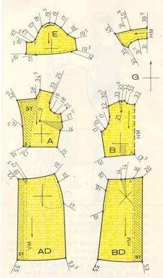 How to use the vest pattern as a sloper/or how do I know what the ease is in a pattern? Bodice Pattern, Vest Pattern, Sewing Tutorials, Sewing Crafts, Sewing Projects, Sewing Clothes, Diy Clothes, Pattern Drafting, Dress Sewing Patterns