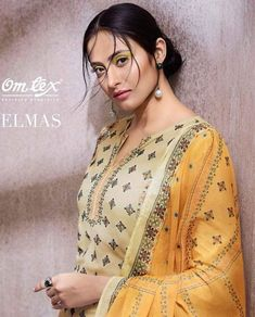 Book order or inquiry now call or whatsapp : ( ) 8866444471 om tex present elmas lawn cotton printed salwar kameez collection wholesaler exporter from surat hions Dress Neck Designs, Designs For Dresses, Fancy Dress Material, India Fashion, Women's Fashion, Boutique Names, Pakistani Salwar Kameez, Block Dress, Indian Beauty